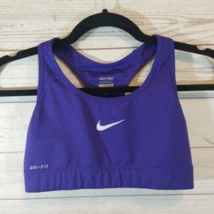 NIKE PRO purple Dri Fit racerback sports bra